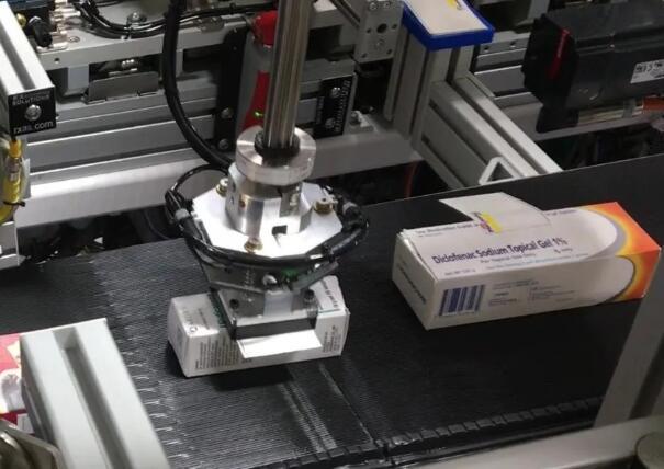 制药产品全自动分配和贴标机系统